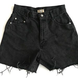 Northwest Blue Black Hi Waisted Jean Shorts